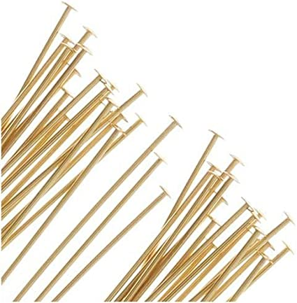 50 Pieces 14Kt Gold Filled Eye Pins 24 Gauge 2 inch
