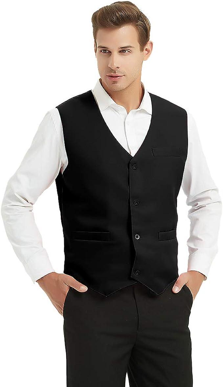 Amazon.com: TopTie - chaleco unisex para uniforme de barman ...