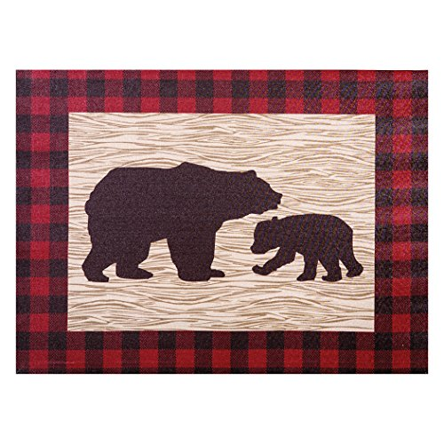 - Trend Lab Northwoods Bear Canvas Wall Art, Tan/Red