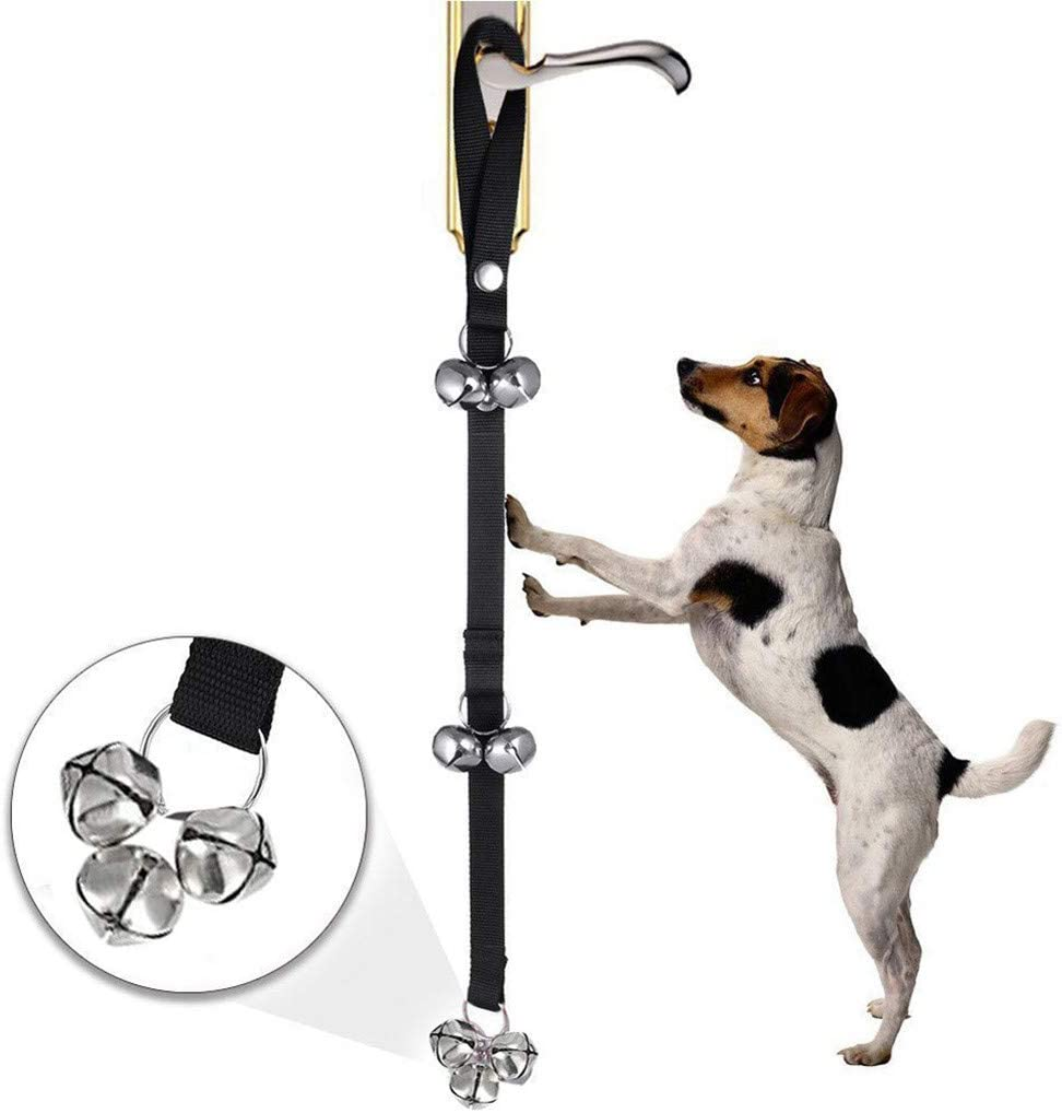Premium Quality Adjustable 3 Snaps Dog Bells for Puppies Dogs Doggy Pikolai 2020 Upgraded Dog Doorbells for Potty Training//Door Knob//Go Outside