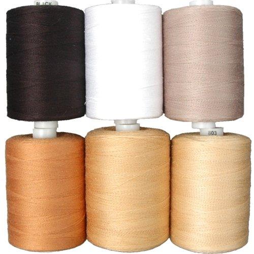 Cotton Thread Set - 6 Quilting Tones - 1000M Threadart BCACS22724