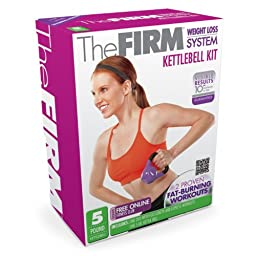 The Firm 5-Pound Kettle Bell Kit with Trouble Zones DVD
