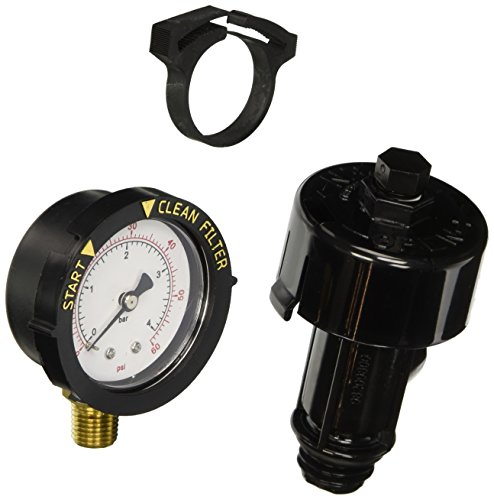 Spa Filter Pressure Gauge (Pentair 98209800 High Flow Manual Relief Valve Replacement Pool and Spa Filter)