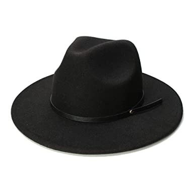 LL Mens Wool Pork Pie Boater Jazz Top Hat Felt Wide Brim Fedora Gambler Hat