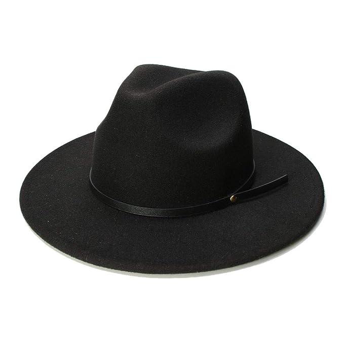 Weejb Woolen Hats Pork Pie Boater Jazz Top Hat for Women Men 9471201f1bc