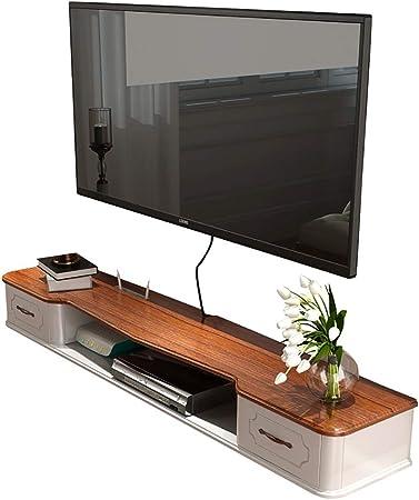 Estante flotante madera maciza montada en la pared carcasa del televisor pequeño apartamento en la pared Mueble de televisión moderno salón armario de pared minimalista dormitorio Mini madera maciza n: Amazon.es: Hogar