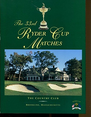 (1999 Ryder Cup Golf Program Brookline Massachusetts Country Club Ex MBX1 35135)