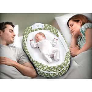 Baby Delight Baby Delight Snuggle Nest Surround Portable Infant Sleeper in Grey/White/reen