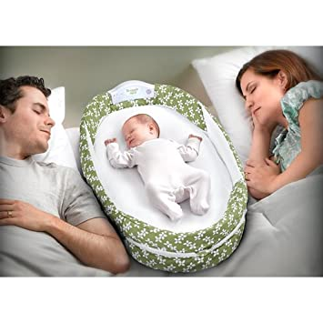 Baby Delight Baby Delight Snuggle Nest Surround Portable Infant Sleeper In Grey White Reen