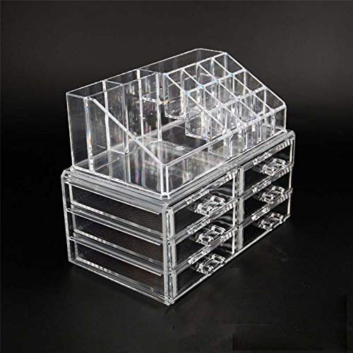 Clear Acrylic Makeup Storage Case Nail Polish Rack Lipstick Cosmetic Storage Box Holder Makeup Brush Makeup Organizer B043