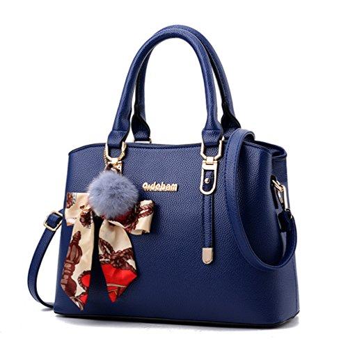 Shoulder Top Bag Bag Womens Large Tote and Satchel Handbags Purses ACLULION Handle Blue wxf8XIzqz