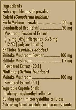 Solgar Reishi Shiitake Maitake Mushroom Extract - 50 Cápsulas vegetales: Amazon.es: Salud y cuidado personal