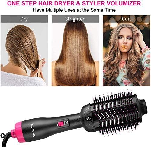 Hot Air Comb Straightener Hair Dryer One Step Hair Dryer Brush Hot Styling Brush for Styling Multifunctional 5-in-1-British_regulatory  v4zjV