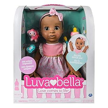 Luvabella 6044113 Cheveux Ensemble d\u0027accessoires de poupée, Marron foncé