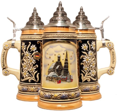 Nuernberg Christmas Market German Beer Stein Nuremberg Nurnberg Made in Germany by King-Werks