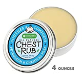 Natural Baby Chest / Vapor Rub by Doctor MK's®, MENTHOL FREE, 4 ounces, with Eucalyptus, Lavender, Beeswax, Ages 3 months+