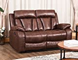 Harper&Bright Designs Sectional Recliner Sofa Set Living Room Couch (Loveseat, Brown) For Sale