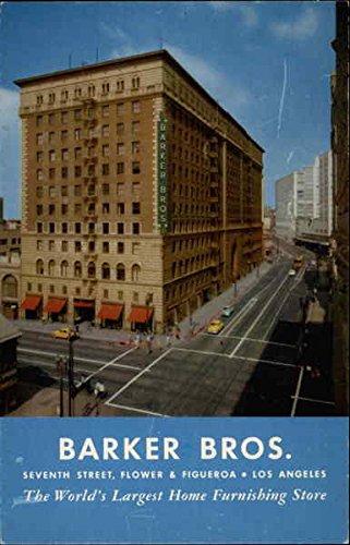 Barker Bros Los Angeles, California Original Vintage Postcard