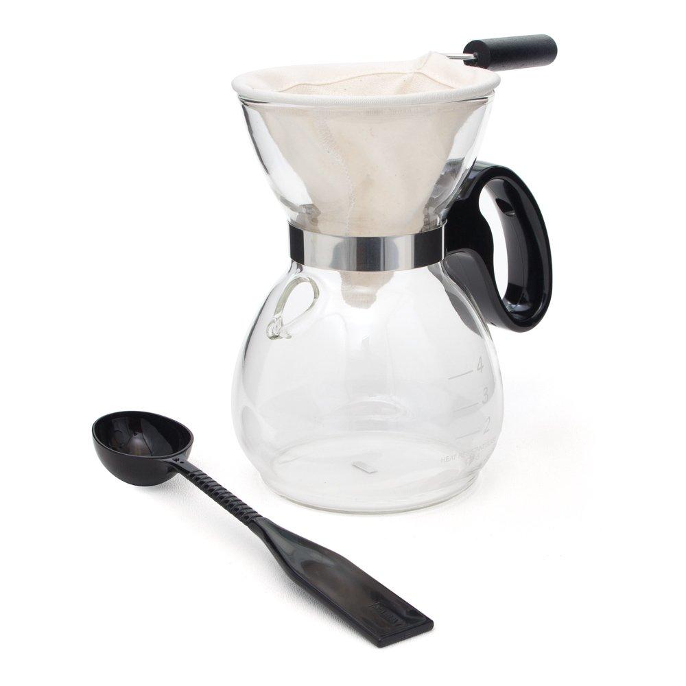 Yama Glass 18-Ounce Coffee/Tea Sock Pot (Sock Included) YAMCD5