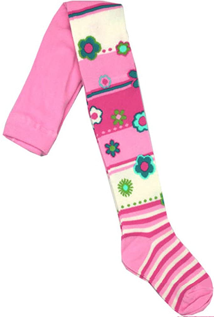 Tic Tac Toe Baby Girls Floral Stripe Tight
