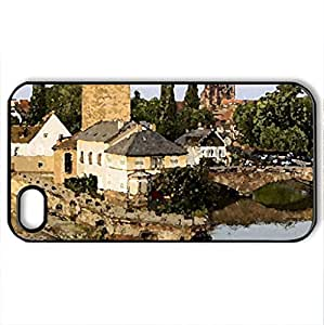 elsass strasbourg france - Case Cover for iPhone 4 and 4s (Watercolor style, Black)