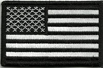 Tactical USA Flag Patch - Black & White by Gadsden and Culpeper by Gadsden and Culpeper