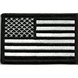 Tactical USA Flag Patch - Black & White by Gadsden and Culpeper