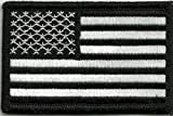 (US) Tactical USA Flag Patch - Black & White by Gadsden and Culpeper