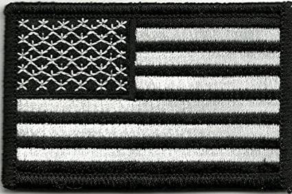 Amazon.com  Tactical USA Flag Patch - Black   White by Gadsden and ... fe2b7bc3249