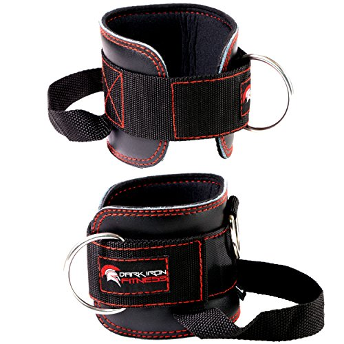 Crossover Kickback (Leather Ankle Straps for Cable Crossover Machine attachments Booty Band Glute Kick Back Weightlifting Work Out Gym Ankle Foot Strap Wrap Cuff Machines Hook Weights Back Leg Weight Lifting Workout)