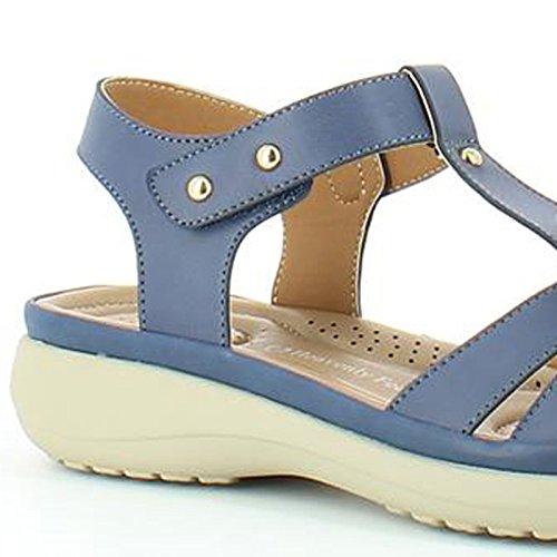 Heavenly Feet Heavenly Feet Anita Navy Sandals - Sandalias de vestir para mujer azul marino