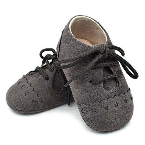 Anti-Rutsch Boots Schuhe Jamicy® Herbst Winter Warme Sterne Wasserdichte Dicker Baumwolle Fluff Haken und Schleife Freien Shoes für Babys und Jungen Dunkelgrau