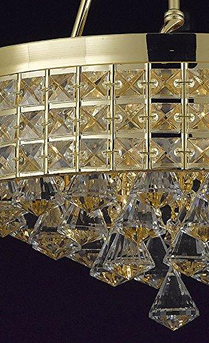 Amazon.com: Flush Mount Imperio Francés araña de vidrio ...