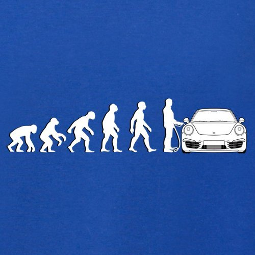 Evolution of Man - 911 Fahrer - Herren T-Shirt - Royalblau - XL