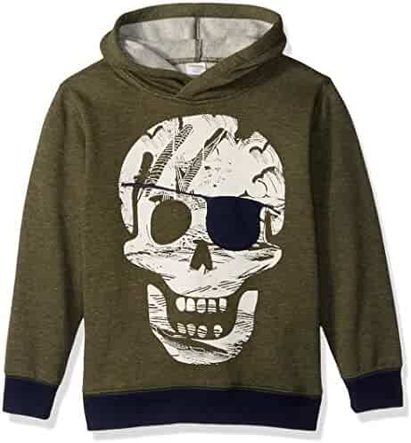 Gymboree Big Boys' Olv Skull Hoodie