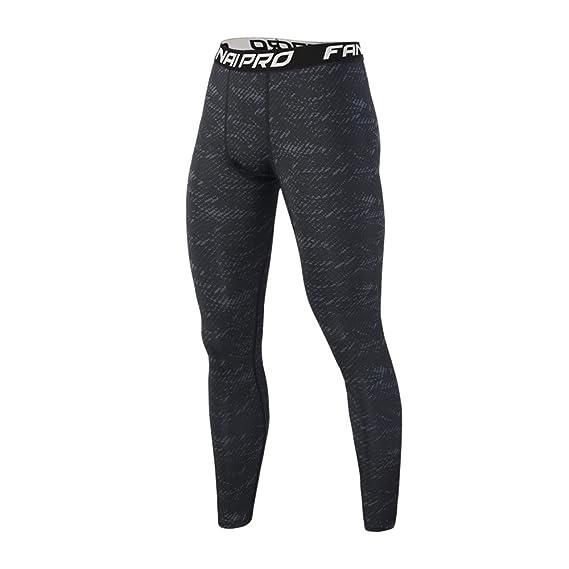 Pantalones Largo Negro Entrenamiento Leggings para Hombre Fitness Sports Gym Running Yoga Athletic Pantalones Slim Fit: Amazon.es: Ropa y accesorios
