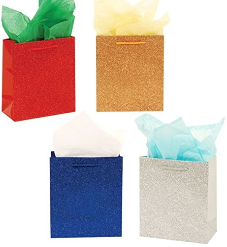 DDI 2127471 Classic Tall Glamour Glitter Glossy Bags - Case of 144 by DDI