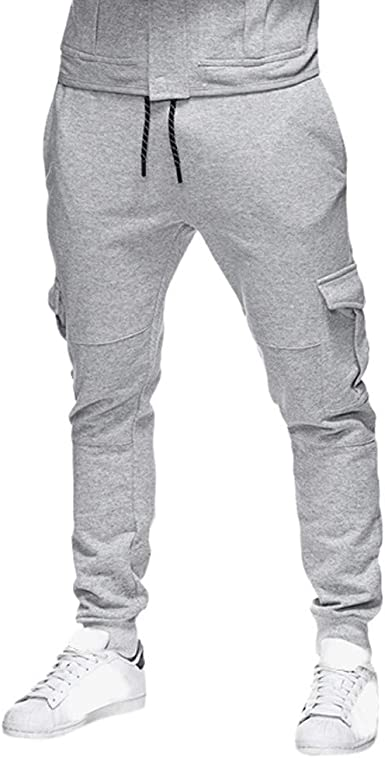 Pantalones Hombre Pitillo YiYLunneo Chándal de Hombres Moda ...
