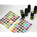 Bottle Cap Stickers/ labels For Essential Oils by Edens Garden