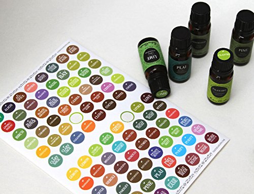 Bottle Cap Stickers/ labels For Essential Oils by Edens Garden