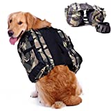 Dog Hiking Backpack Carrier Camping Backpack Travel Gear Bag Outdoor Training Service Weighted Vest (Medium)
