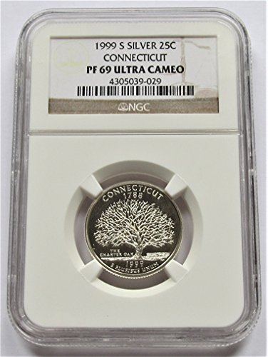 1999 S Connecticut Silver State Quarter PF69 NGC