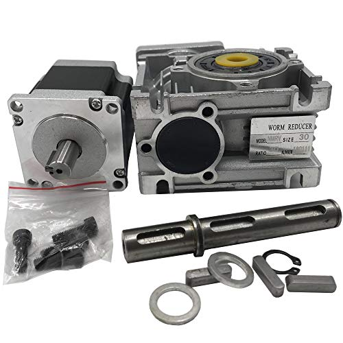 Nema23 Worm Gear Stepper Motor L56MM 3A Gearbox Ratio 7.5:1 10:1 15:1 20:1 30:1 Speed Reducer for CNC Router (30:1)