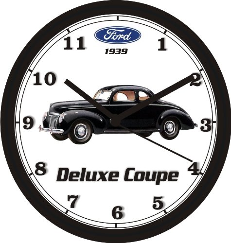 1939 Ford Coupe - 1939 FORD DELUXE COUPE WALL CLOCK-Free USA Ship