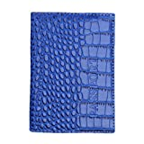 Passport Holder, Aobiny Protector Wallet Business Card Soft Passport Cover Leather (Blue)