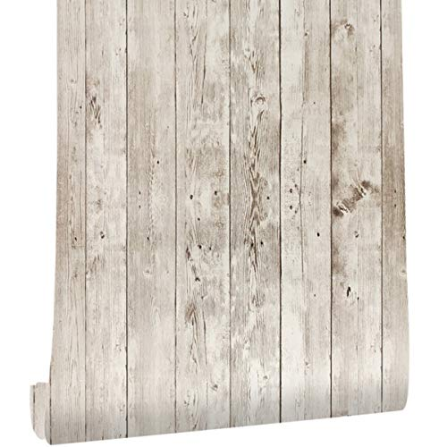 - Wallpaper Vinyl Vintage Wood Peel and Stick Decorative Wallpaper Contact Paper Self-Adhesive Stickers Bedroom Wall Covering Waterproof Kitchen Wallpaper Removable Easy to Clean(1.48ftX19.68ft /Roll)