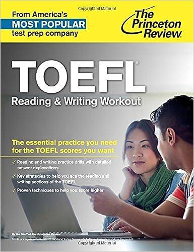 Ebook para descargar TOEFL Reading & Writing Workout (College Test Preparation) by Princeton Review (18-Dec-2014) Paperback in Spanish DJVU
