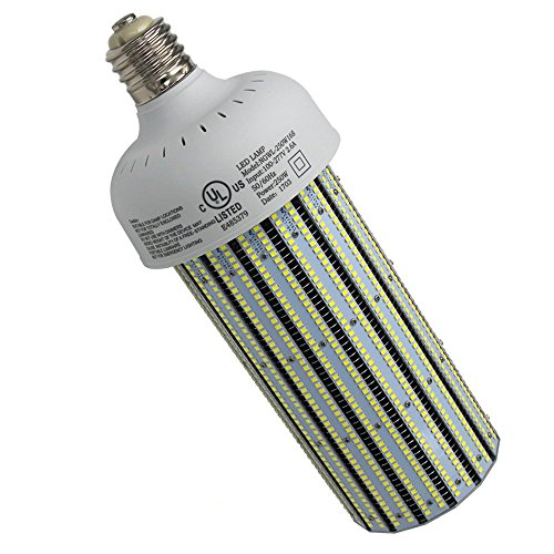 250W LED Corn Cob Bulb (1000 Watt Metal Halide Replacement), Bright 6000K White 34,425 Lumens High Bay Factory Light, UL DLC Listed E39 LED Mogul Base Lamp Warehouse Lighting ()