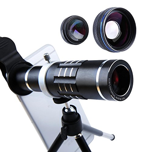 Cheap Lens Attachments Cell Phone Lens 18X Telephoto Lens Super Wide Angle Lens Macro Lens..