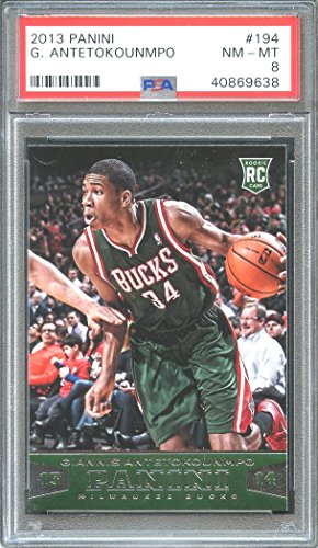 2013-14 panini #194 GIANNIS ANTETOKOUNMPO milwaukee bucks rookie card PSA 8 Graded Card